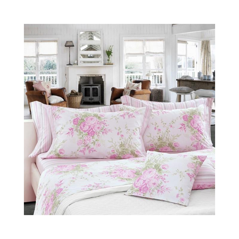 housse de couette avec des roses. Black Bedroom Furniture Sets. Home Design Ideas