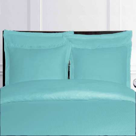 Housse de Couette Fines Rayures Turquoise