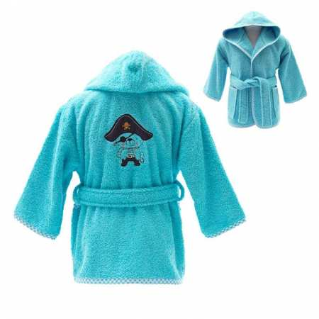 Peignoir de bain enfant brodé Ours Pirate