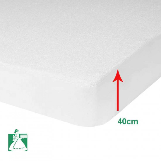 Protege Matelas Polyuréthane Imperméable Bonnet 40 cm