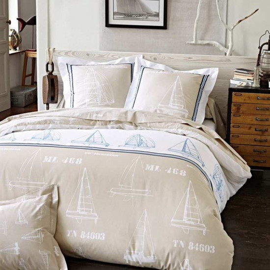 parure de lit sailing. Black Bedroom Furniture Sets. Home Design Ideas