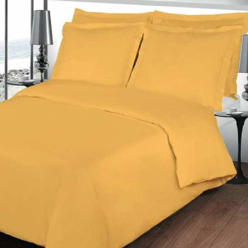 housse de couette jaune tournesol percale coton. Black Bedroom Furniture Sets. Home Design Ideas