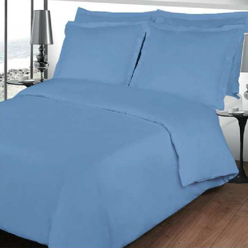 housse de couette bleu lavande percale de coton. Black Bedroom Furniture Sets. Home Design Ideas