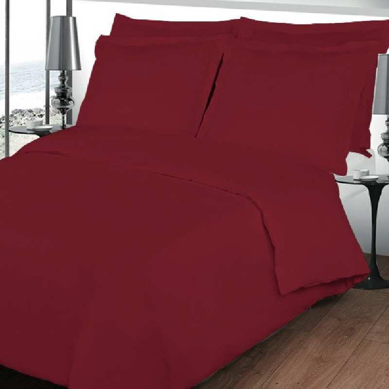 housse de couette bourgogne bordeaux en percale. Black Bedroom Furniture Sets. Home Design Ideas