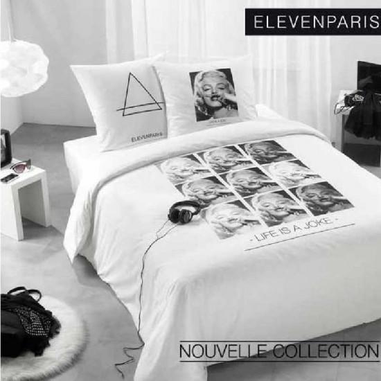parure housse de couette marylin monroe eleven paris la compagnie du blanc. Black Bedroom Furniture Sets. Home Design Ideas