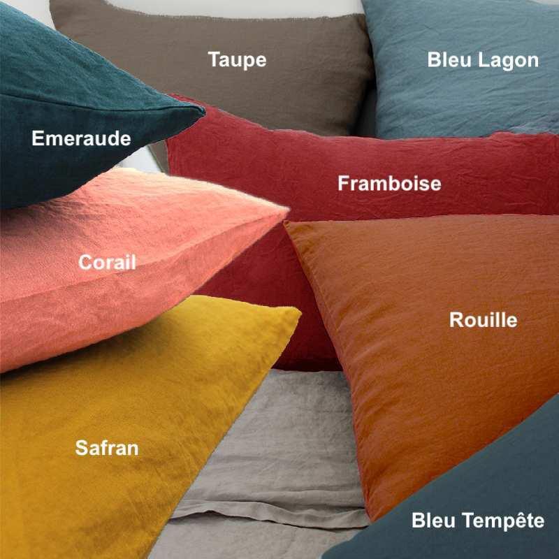 drap housse lin lav grands bonnets 40 cm la compagnie du blanc. Black Bedroom Furniture Sets. Home Design Ideas