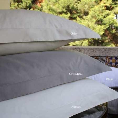 Taie d'oreiller Percale 100% Coton Bio 120 fils/cm2
