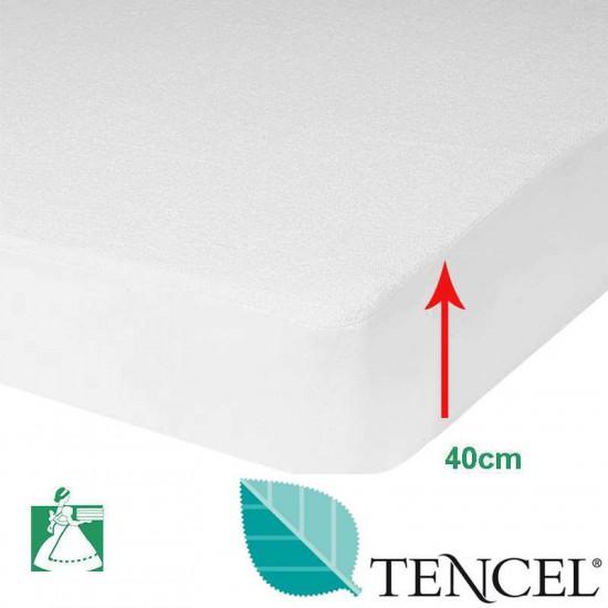 Protège Matelas Tencel® Bonnets 40 cm
