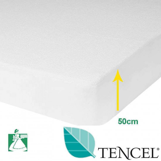 Protège Matelas Tencel® Bonnets 50 cm