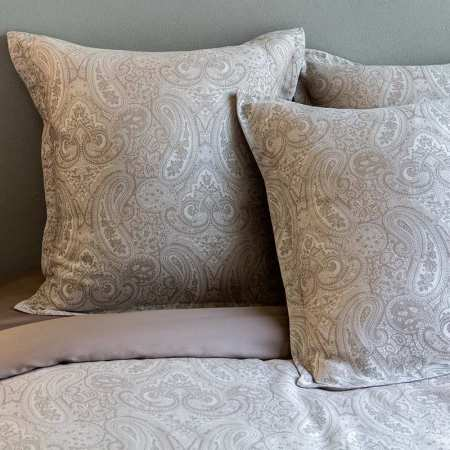 Lot de 2 taies VIENNE Taupe