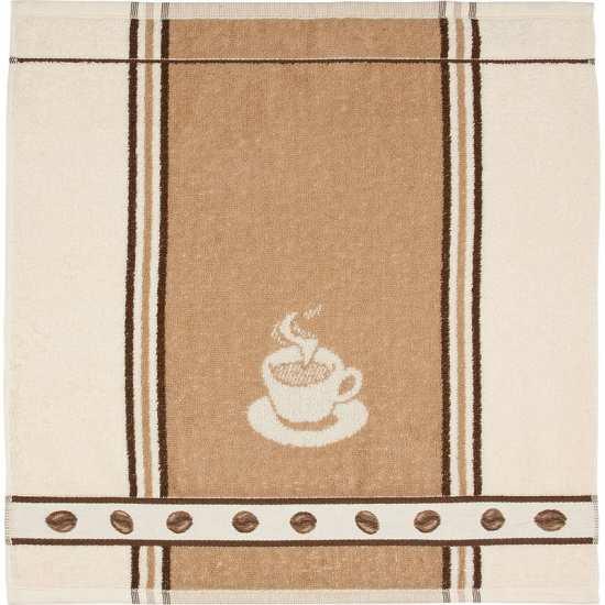 Lot de 3 Essuie-Mains 50 x 50 cm Grains de Café