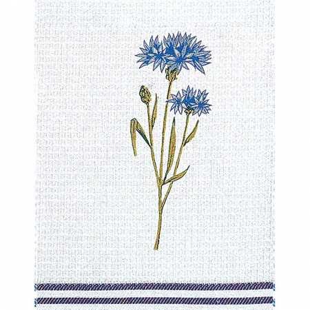 Torchon Nid d'Abeille 50 x 70 cm Bleuet