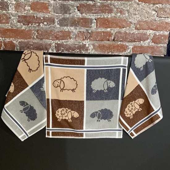 Lot de 3 Essuie-Mains 50 x 70 cm Moutons