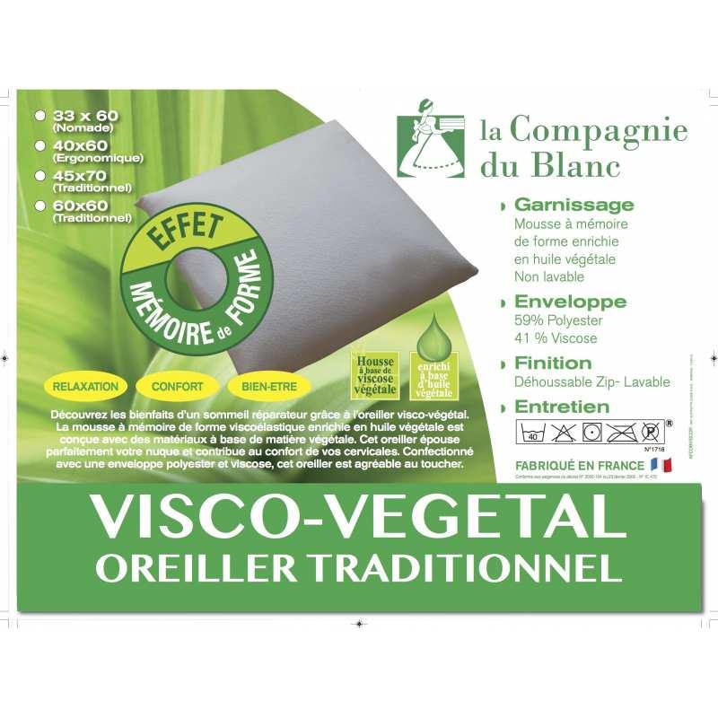 Oreiller drouault pilo vegetal - Oreiller dodo vegetal 60x60 ...