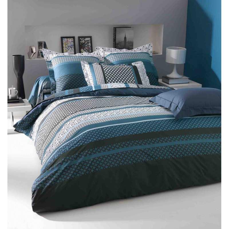 parure de draps andrew percale 3 pi ces extra large dp270 2to la compagnie du blanc. Black Bedroom Furniture Sets. Home Design Ideas