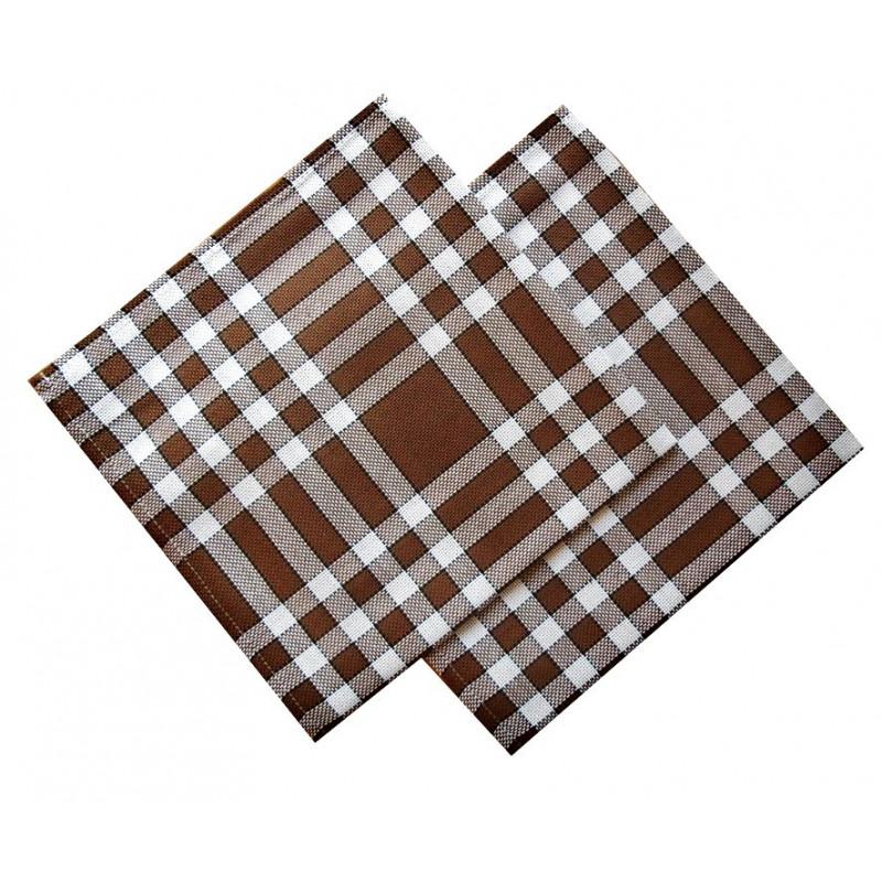 Lot de 6 serviettes de table 50x50 carreaux normands - Serviette de table ...