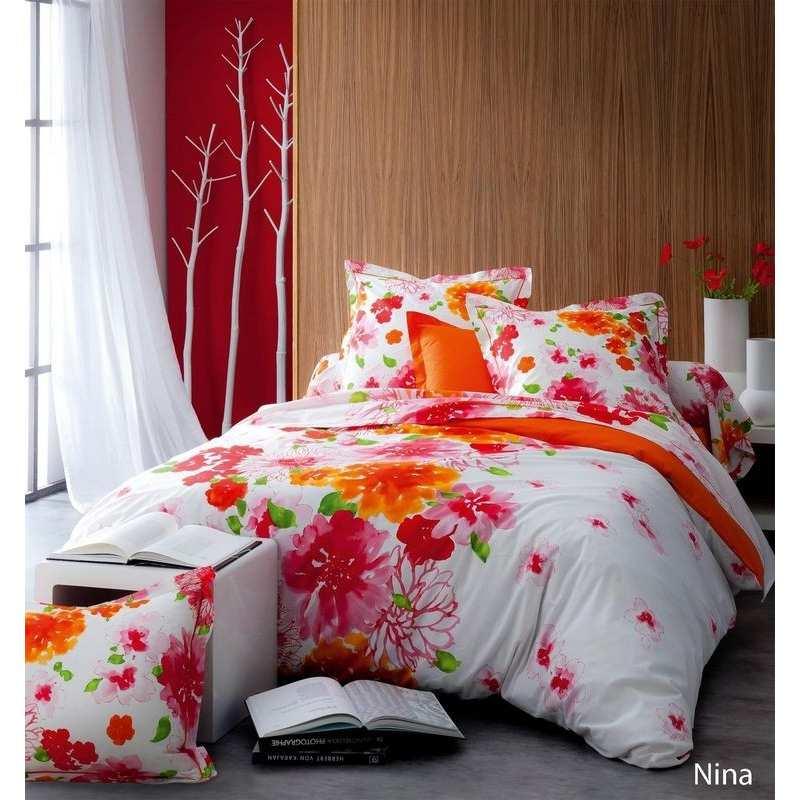 parure de draps nina 4 pi ces dh140 dp240 2to la. Black Bedroom Furniture Sets. Home Design Ideas