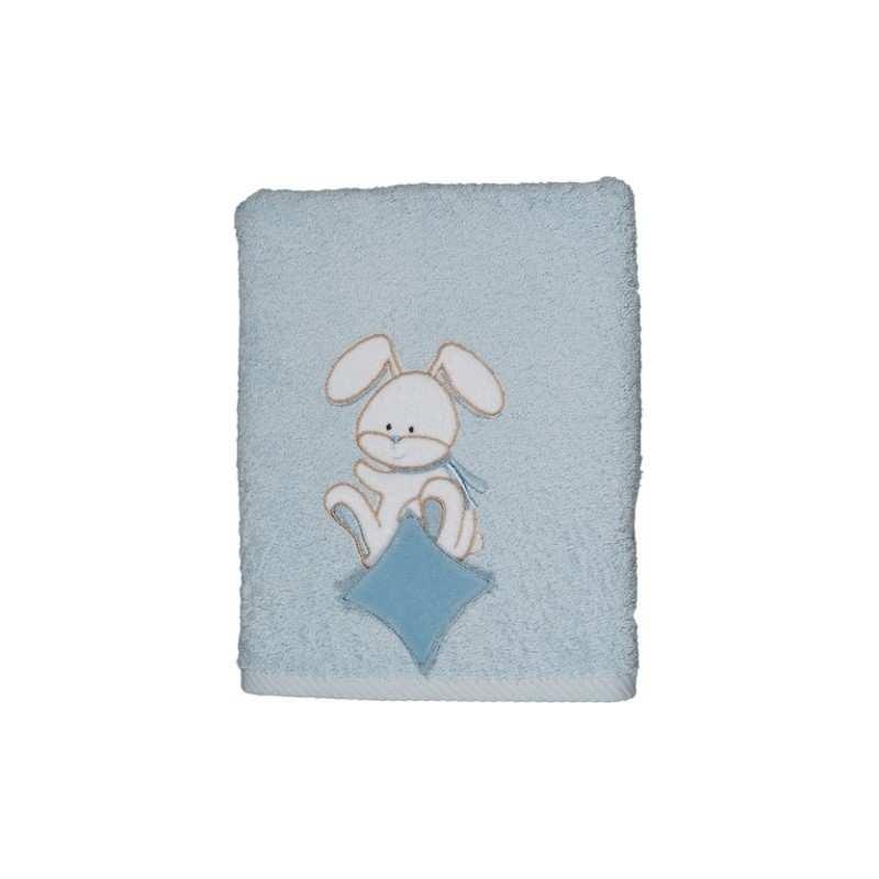 peignoir de bain brod enfant doudou bleu. Black Bedroom Furniture Sets. Home Design Ideas
