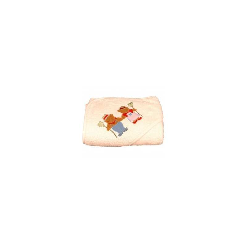 Peignoir de bain brod enfant parents ours for Peignoire de bain