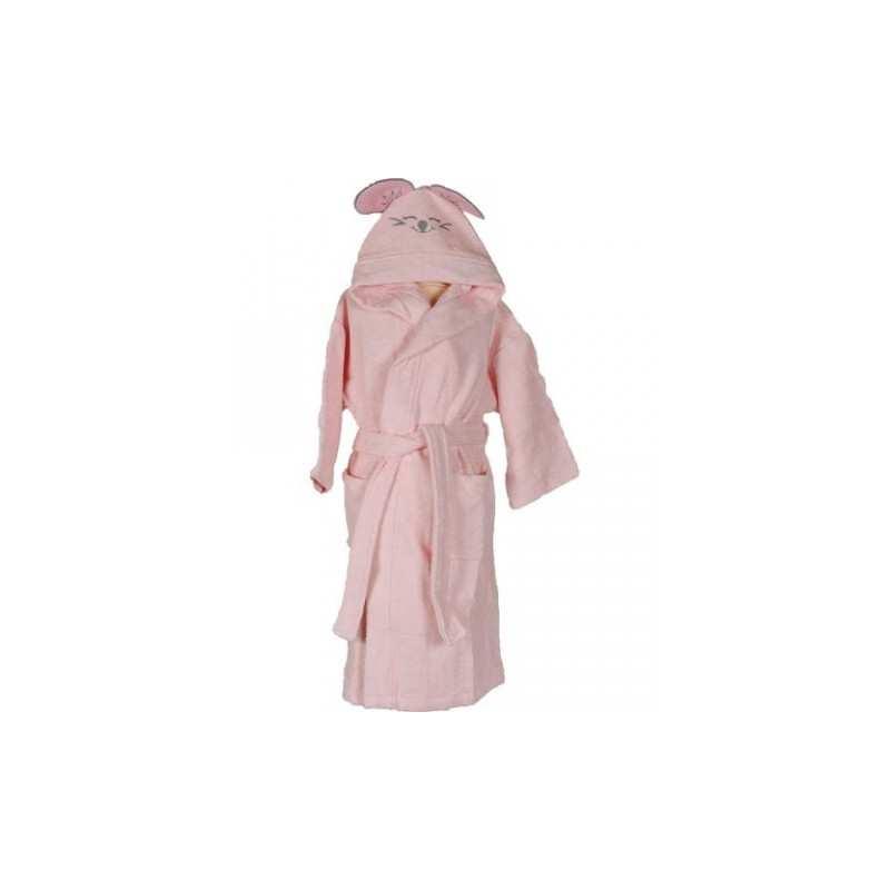 peignoir de bain brod enfant pink mouse rose. Black Bedroom Furniture Sets. Home Design Ideas