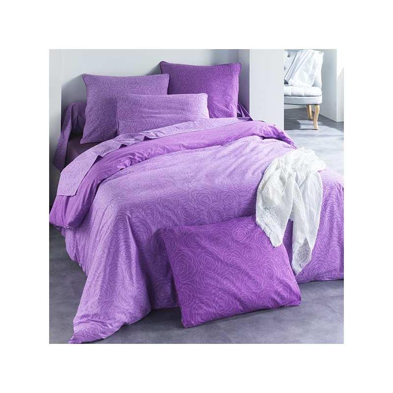 Housse de couette c design - Housse de couette gris violet ...