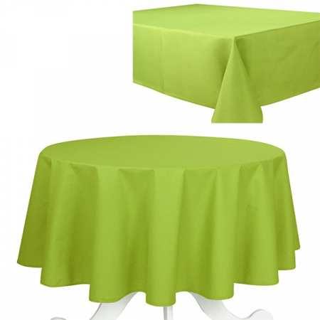 Nappe de Table Uni Olive Effet Coton 240g/m2
