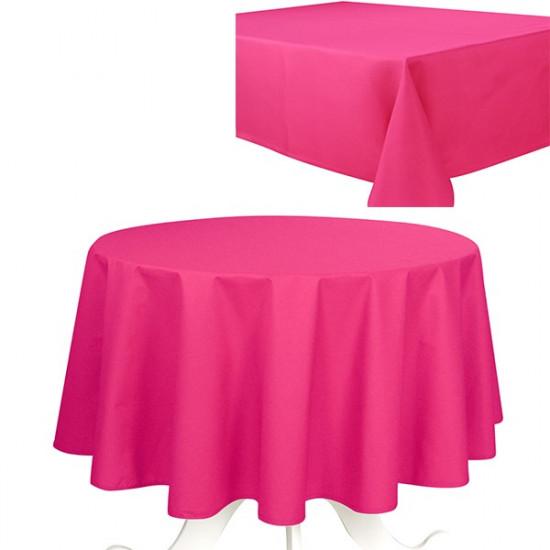 Nappe de table uni fushia effet coton 240g m2 - Nappe fushia table ...