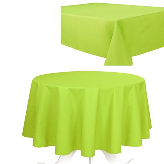 Nappe de Table Uni Anis Effet Coton 240g/m2