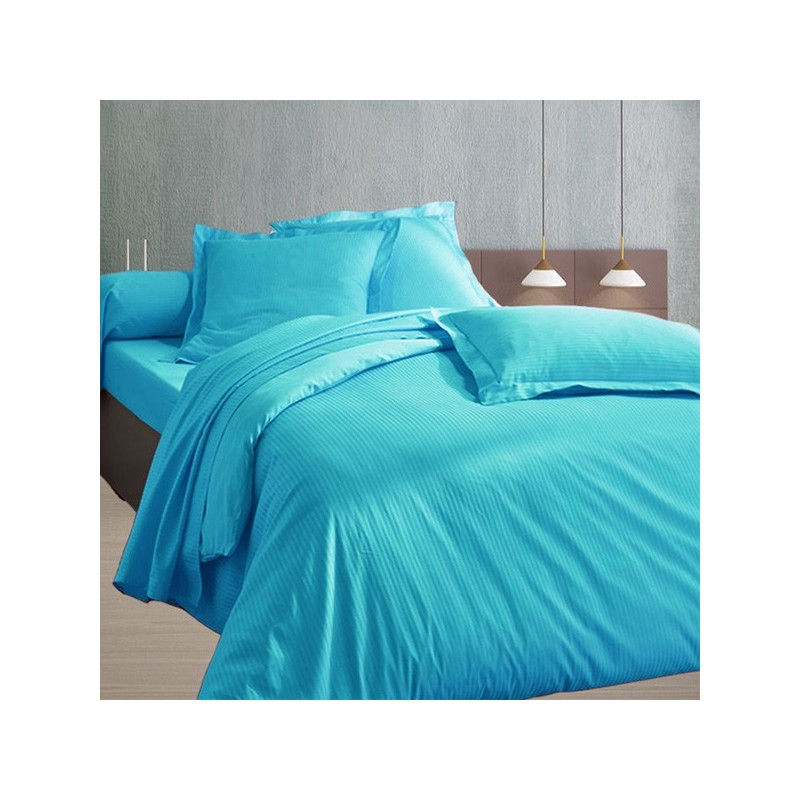 240x260 satin de coton housse de couette turquoise. Black Bedroom Furniture Sets. Home Design Ideas