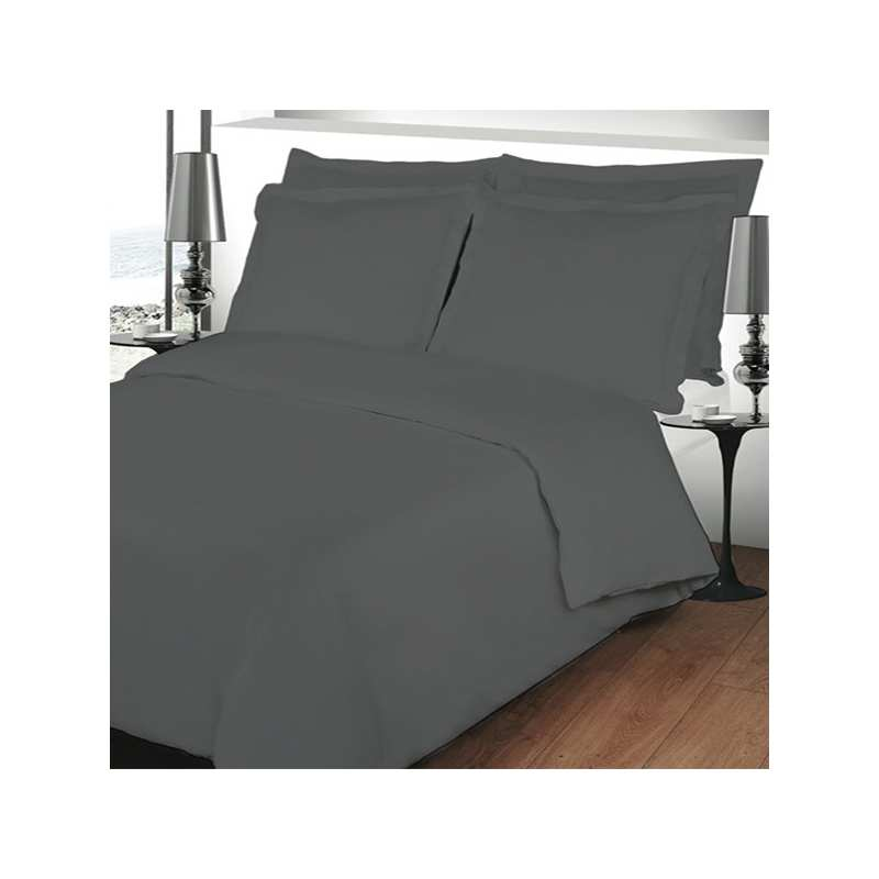 housse de couette 220x240 linge de lit 220x240 gris anthracite. Black Bedroom Furniture Sets. Home Design Ideas