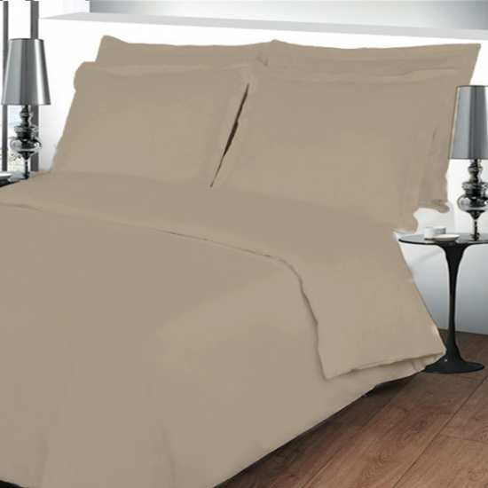 Housse de couette 220x240 linge de lit 220x240 beige - Housse de couette percale 220x240 ...