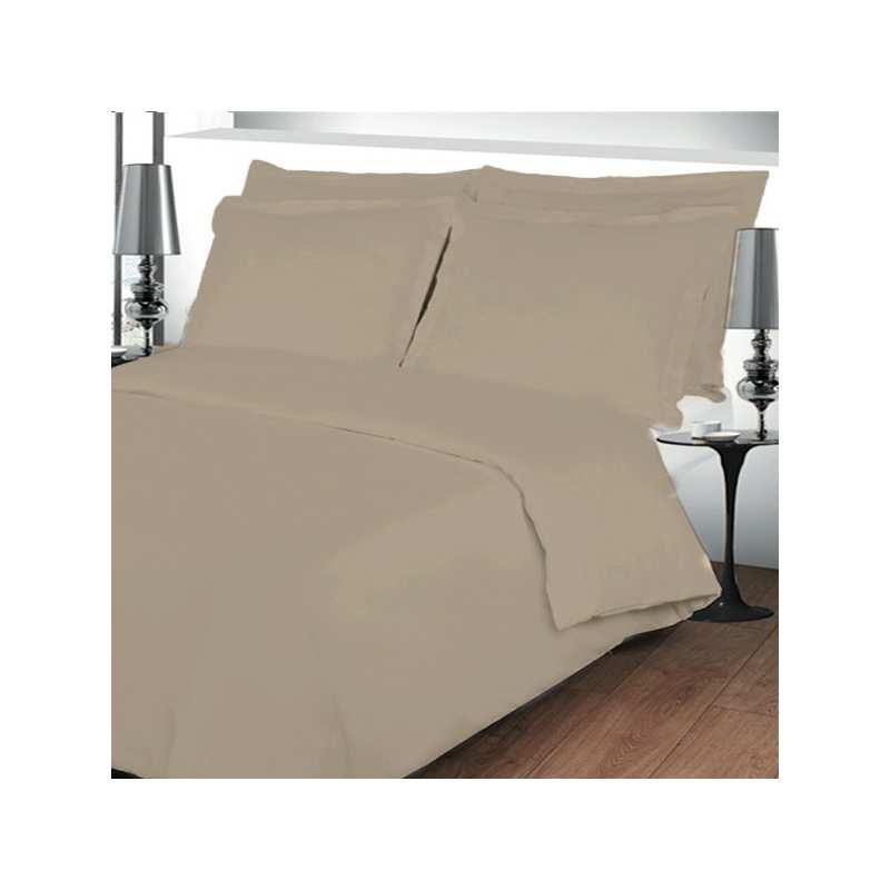 housse de couette 220x240 linge de lit 220x240 beige. Black Bedroom Furniture Sets. Home Design Ideas