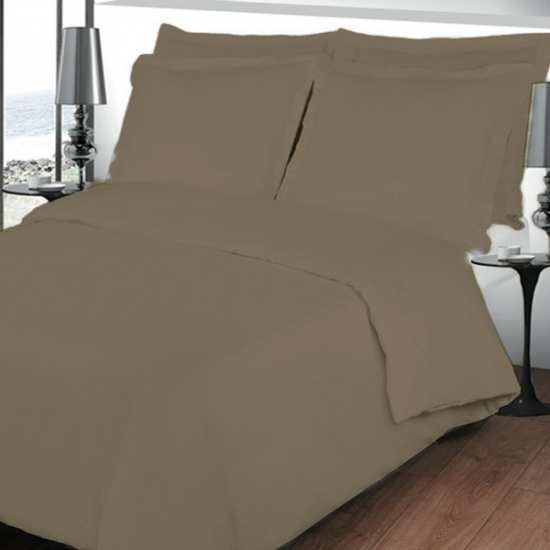 housse de couette 220x240 linge de lit 220x240 taupe. Black Bedroom Furniture Sets. Home Design Ideas