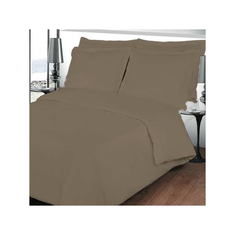 housse de couette 220x240 linge de lit 220x240 taupe. Black Bedroom Furniture Sets. Home Design Ideas