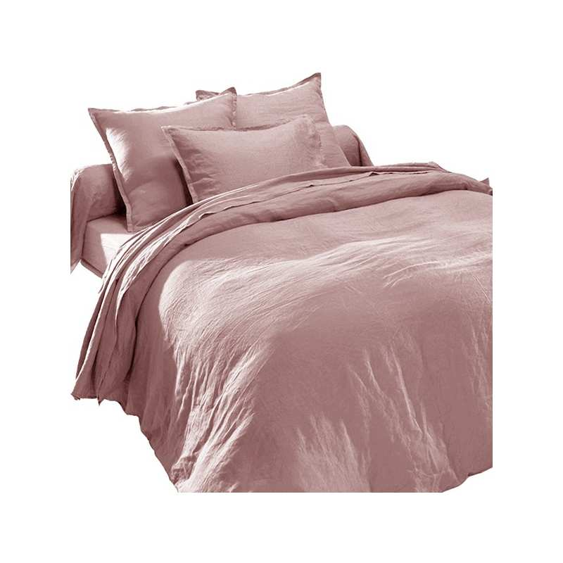 lin lav housse de couette vieux rose. Black Bedroom Furniture Sets. Home Design Ideas