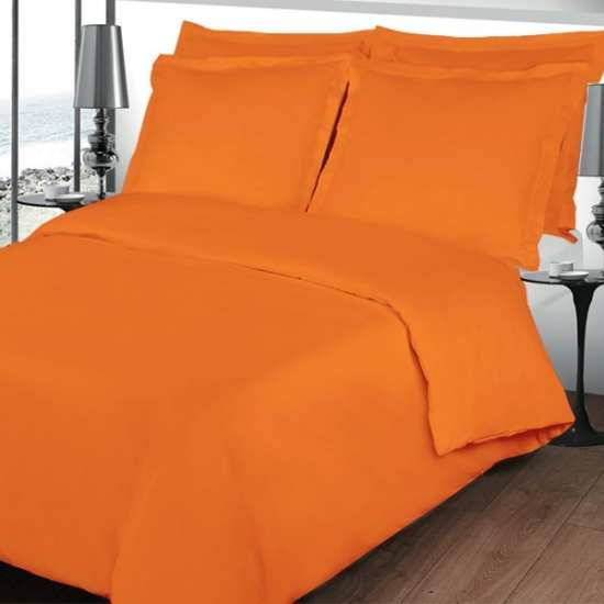 housse de couette 200x200 linge de lit 200x200 orange. Black Bedroom Furniture Sets. Home Design Ideas