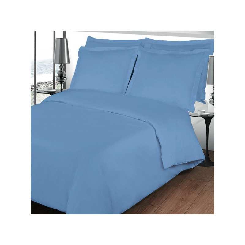 Housse de couette 200x200 linge de lit 200x200 bleu lavande for Housse de couette unie 200x200
