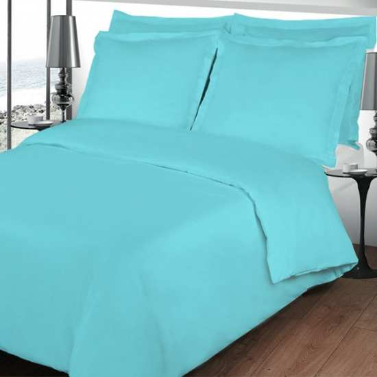 housse de couette 240x260 parure de lit turquoise 260 240. Black Bedroom Furniture Sets. Home Design Ideas