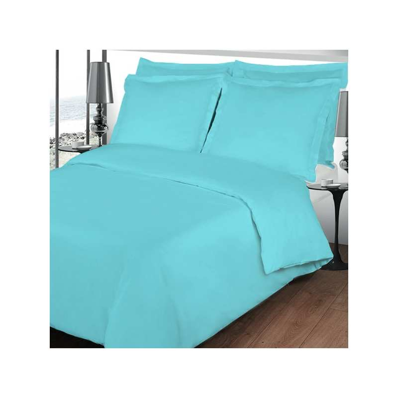housse de couette 200x200 linge de lit 200x200 turquoise. Black Bedroom Furniture Sets. Home Design Ideas
