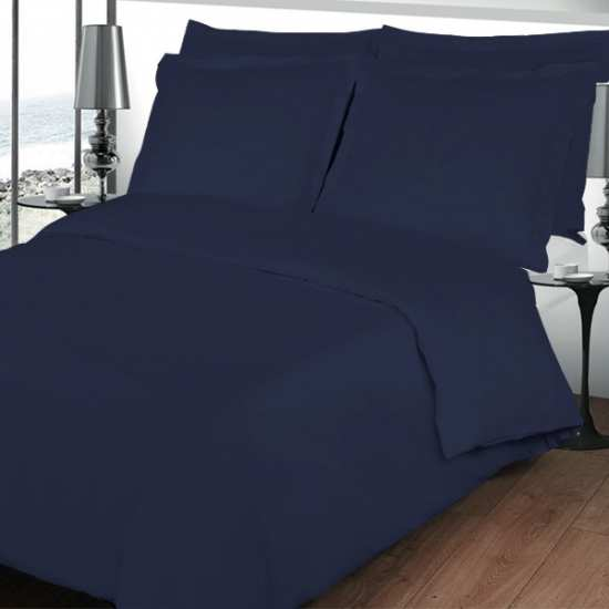 housse de couette 220x240 linge de lit 220x240 bleu marine. Black Bedroom Furniture Sets. Home Design Ideas