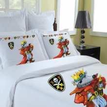 housse de couette 140x200 parure 1 personne la compagnie du blanc. Black Bedroom Furniture Sets. Home Design Ideas