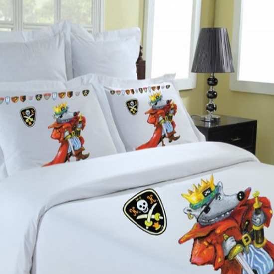 housse de couette roi pirate 140x200 housse de couette sold e. Black Bedroom Furniture Sets. Home Design Ideas