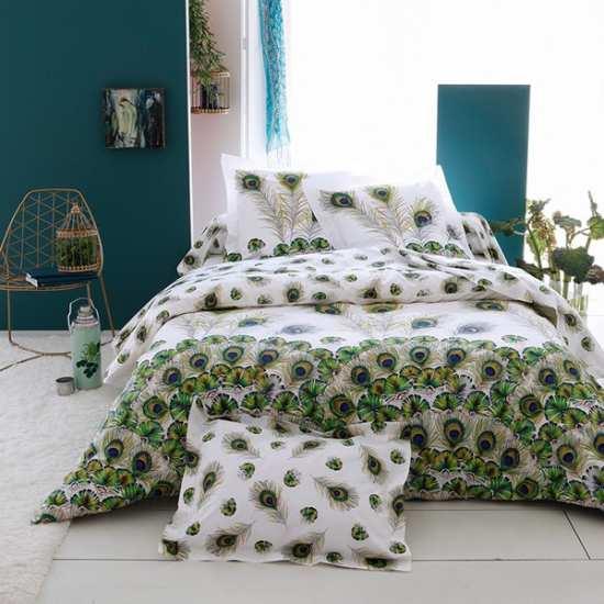 housses de couette housse de couette tradilinge mod le percale peacock. Black Bedroom Furniture Sets. Home Design Ideas
