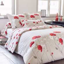 Housse de Couette Cybele Percale 200x200 + 2 taies 65x65