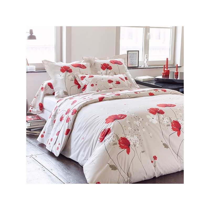 housse de couette cyb le percale 240x260 2 taies 65x65 la compagnie du blanc. Black Bedroom Furniture Sets. Home Design Ideas