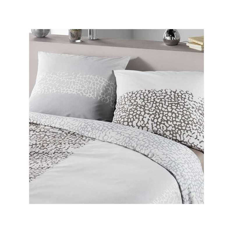housse de couette wild 140x200 1 taie 65x65 la compagnie du blanc. Black Bedroom Furniture Sets. Home Design Ideas