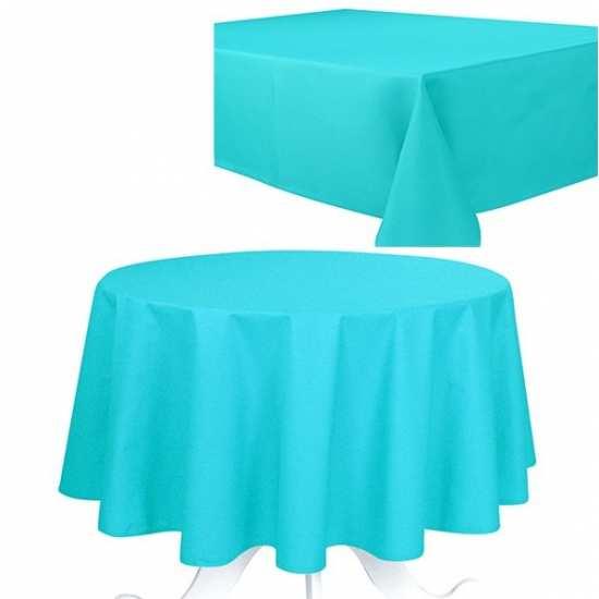 Nappe Turquoise 160x250 Effet Coton 240g/m2