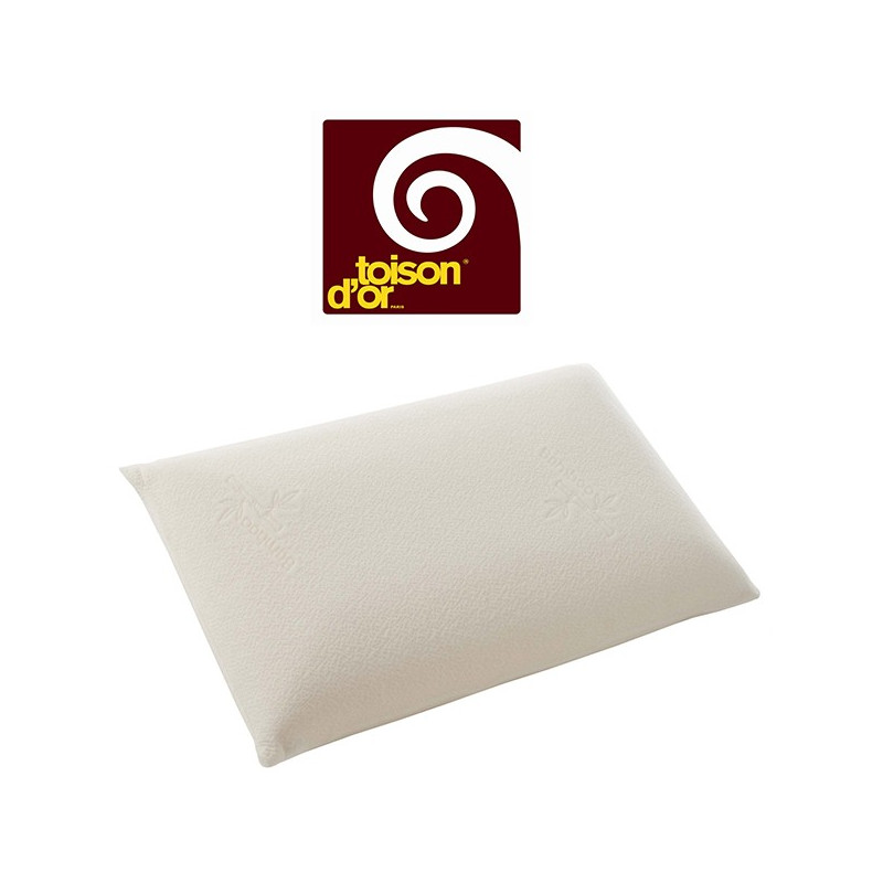 m moire de forme oreiller confort moelleux 40x60 toison d 39 or la compagnie du blanc. Black Bedroom Furniture Sets. Home Design Ideas