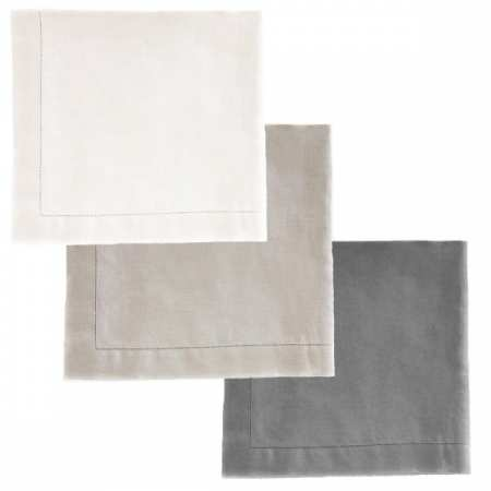 Serviette de Table 45x45 Luxe 100% Lin Lavé