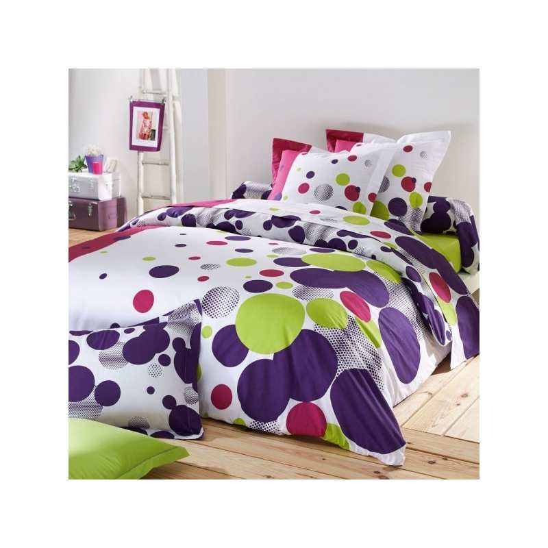 housse de couette enfants mood fushia 140x200. Black Bedroom Furniture Sets. Home Design Ideas